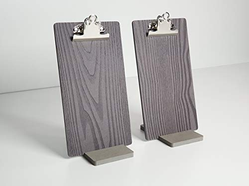 Menu or Receipt Holder with a Stand Set for Restaurant Cafe Bar Eatery Cafeteria Grill Clipboard Made of Moisture Resistant Engineered Wood (Receipt(10