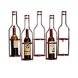 Botelleros de estilo clásico Vintage Industrial Wind Bottle Wine Rack, Rack de vino de hierro forjado for colgar en pared, Decoración de pared Wine Rack Estante de almacenamiento de licor de encimera
