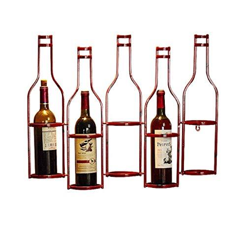 Haodan electronics Botelleros Estilo Industrial Retro Arte de Hierro Estante de Vino Colgante de Pared Bar Café Tema Restaurante Occidental Mostrador de Vino Estante de Vino