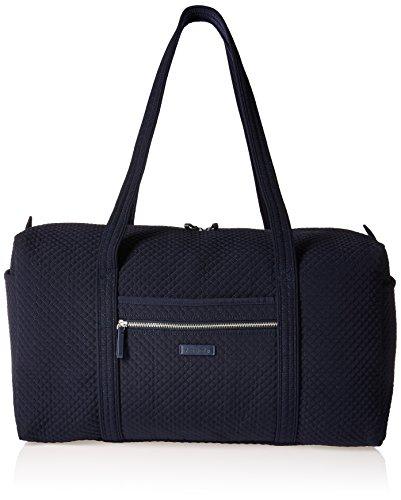 Vera Bradley Microfiber Large Travel Duffle Bag, Classic Navy