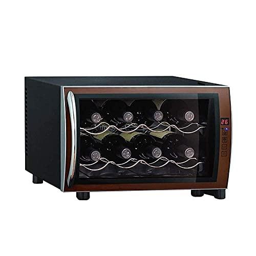 Nevera Eléctrica Portátil Vino silencioso 8 Botella de vino refrigerador - Temperatura y humedad constante de vino Chip electrónico inteligente, refrigerador de vino termoeléctrico con control de temp