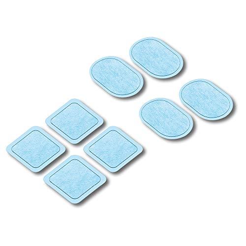 Beurer EM 22 almohadillas de gel con pilas, juego de recambio con 8 almohadillas de gel autoadhesivas y 3 pilas (batería de 3 V CR2032) para su uso con EM 22 Muscle Booster