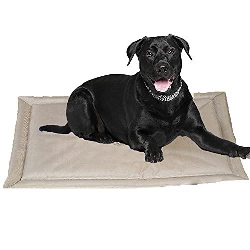 JYOKK Alfombrilla de Refrigeración para Perros y Gatos PVC Compuesto + Gel de esponjaAlfombra Refrescante Suave y cómodo para Uso Interior y Exterior Gris