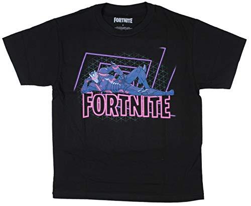 Boys Fortnite Omega Character Tee (Small (8)) Black