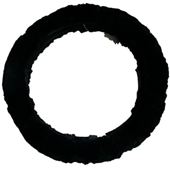 Woolworks Australian Sheepskin Steering Wheel Cover – Black