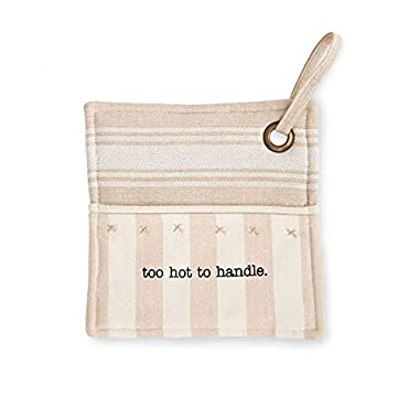 Mud Pie Too Hot To Handle Pot Holder 8  Square