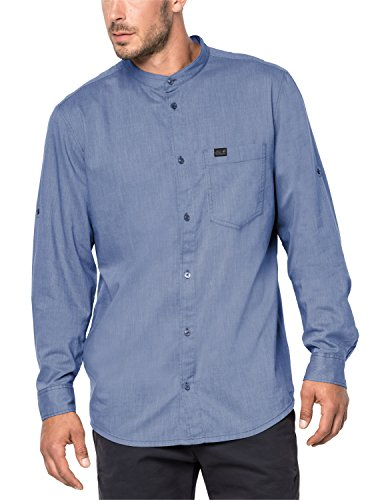 Jack Wolfskin Indian Springs Shirt, Dusk Blue Stripes, S pour Hommes