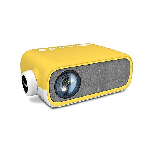 SDFD Proiettore Portatile per la casa, Messa a Fuoco Manuale HD Picture Altoparlante Incorporato Proiettore Rivestito ad Alta Trasmissione Luminosa, Adatto per Camera da Letto e Soggiorno