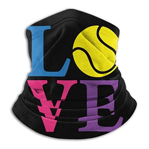 XXWKer Microfibre Chapeaux Tube Masque Visage Tour de Cou Cagoule, Tennis Love Men Women Cold Weather Ultimate Thermal Retention Face