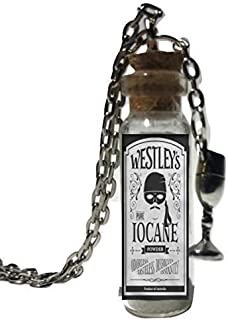 The Princess Bride Westley's Iocane Powder 1 1/2 Inches Glass Bottle Necklace