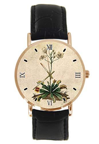 Reloj de pulsera vintage Venus con trampa de mosca y flor de...