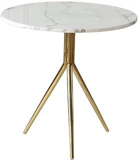 ZJHDX Marble Metal Side Several Modern Minimalist Side Living Room Furniture, 50 * 59cm