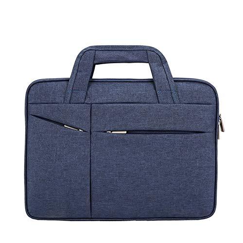 QSGNR Aktentasche Mode Männer Durable Canvas Aktentasche Hohe Qualität Durable 15 Zoll Laptoptasche Geschäftsleute Dokumententasche Portfolio Wasserdicht Blau