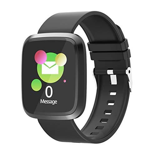 AIREQN Inteligente Reloj de los Deportes de Fitness calorías Pulsera de Reloj Inteligente Desgaste Hombres Mujeres SmartWatch (Color : Black)