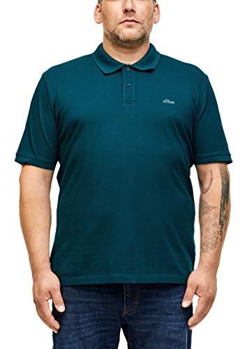 s.Oliver Big Size Herren Poloshirt aus Baumwollpiqué petrol 5XL