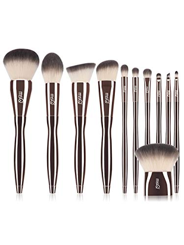 Golden Moon Makeup Brush Set Fard À Paupières Brush Blush Brush Loose Powder Brush Makeup Tool , 11 Brushes