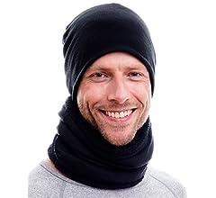 Bufanda Caliente con Polar de Peluche y Cordones o Gorro Hilltop Bufanda de Tubo Doble Capa Braga de Cuello para Hombre y Mujer