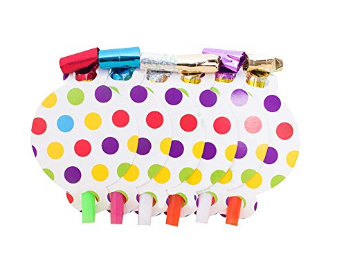 Set Of 3 Non Toxique Partie Bruiteurs Favors For Kids (Dots)