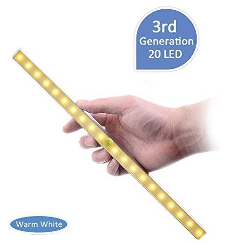 Kitclan LED Sensor Nachtlicht mit Bewegungsmelder Edelstahl Kabellos Batteriebetrieben 9 LED 120 Grad f/ür Haus Weg Veranda Eingang Garage Hof Warmwei/ß 2 St/ück Garten Terrasse K/üche Flur
