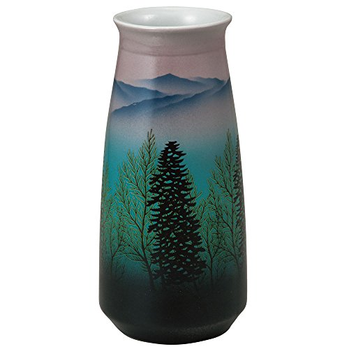 Kutani Yaki (artículos) jarrón gama de montañas