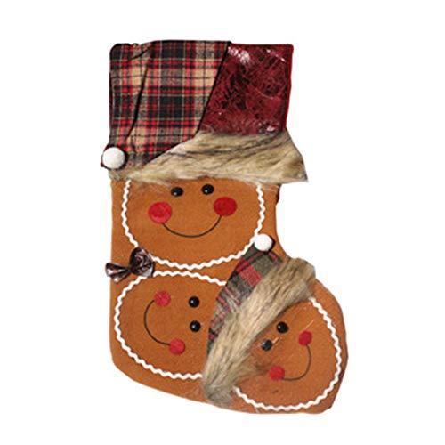 LAMEIDA Calcetines de Navidad Niños Regalo Candy Pouch Con Papá Noel Muñeco de Nieve Galleta Hombre Para Chimenea Árbol de Navidad Ornamento Colgante Decoración