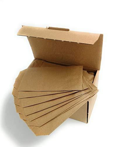 Lot de 250 pochettes en papier kraft de 7 x 12 cm pour votre commerce, présentation de bijoux, accessoires