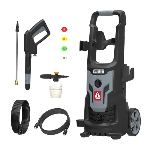 A-iPower PWE1802 - 1800PSI 1.3 GPM Electric Pressure Washer