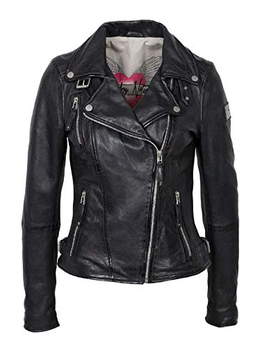 Freaky Nation Biker Princess Giacca, Nero (Shadow 9015), Small Donna