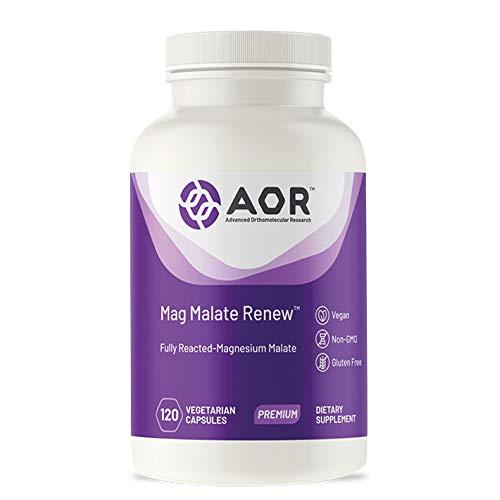 Advanced Orthomolecular Research AOR Mag Malate Renew Capsules, 120 Count by Advanced Orthomolecular Research AOR