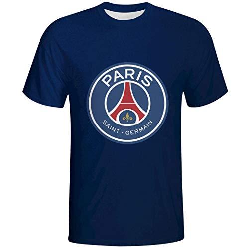 Blau T-Shirt Christmas PSG offizielles Lizenzprodukt