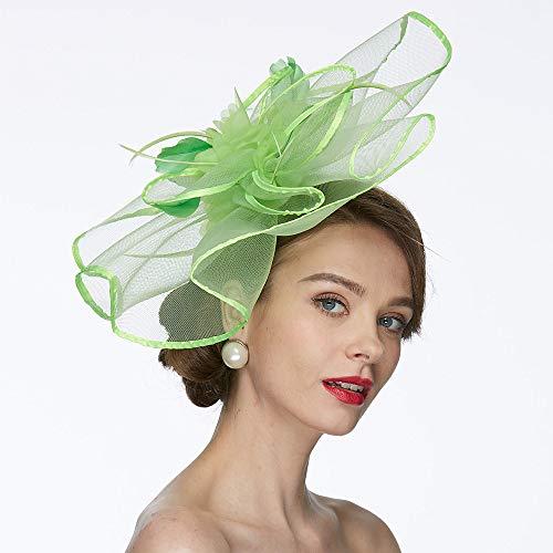 HFJ&YIE&H A Rete Kentucky Derby Hat/Fascinators/Cappelli con 1 Matrimonio/Occasioni Speciali Copricapo,C
