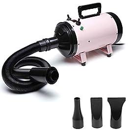 dicn Dog Hair Dryer, Dog Grooming Blaster, Pet Dryer, Motorcycle Dryer 2800W Black/Pink