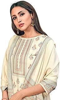 Rivaa Cotton Kaani Suits - Cream