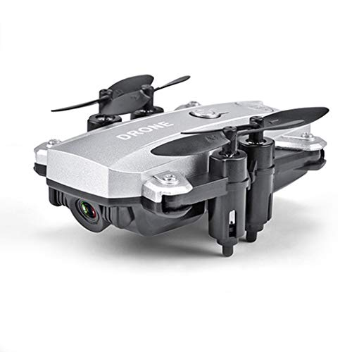 PBTRM FPV Drone Plegable Cámara, WiFi Quadcopter 2.4 GHz HD 1080P Cámara para Principiantes Adultos,Silver 8 megapixels