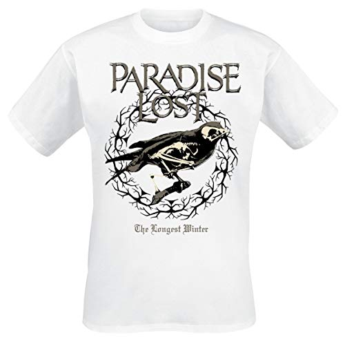 Paradise Lost T-shirt The Longest Winter Band Logo New Officieel heren