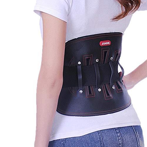 ZFF Cuero Soporte Lumbar Cinturón,Inferior Atrás Apoyo para Hombre Y Mujer Herniado Dto...