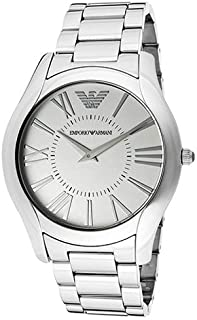Emporio Armani Men's Silver Dial Stainless Steel Band Watch - AR2055