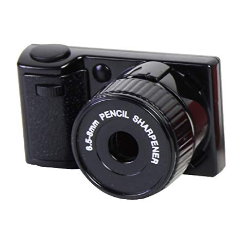 マグネット 鉛筆削り カメラシャープナー ブラック 5.4×3.1×3.3cm 2018