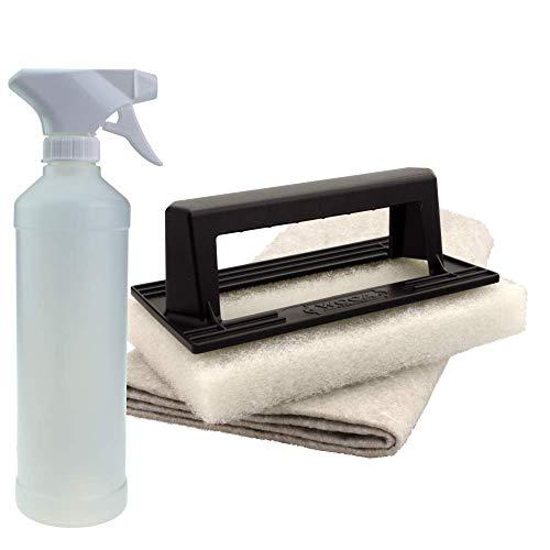 Woca Mini Pad weiß mit Handgriff inkl. Ölsaugtuch & Spraykopf