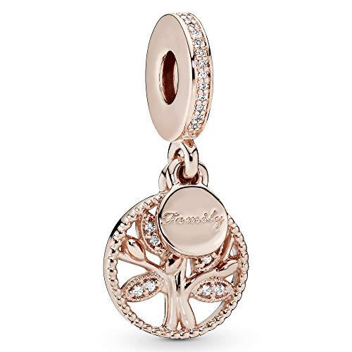 Pandora Jewelry Family Heritage Dangle Cubic Zirconia Charm in Pandora Rose
