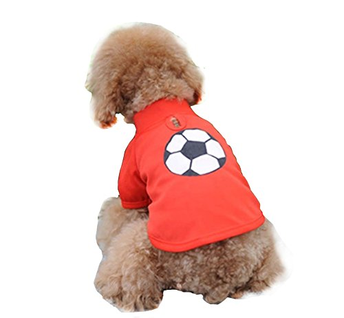 Lovely Puppy Apparel pour animal domestique Vêtements Rouge Polo, tour de poitrine 42 cm, M