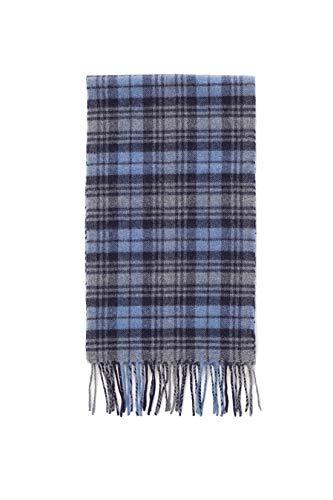 Brooks Brothers heren sjaal Schotse ruiten, blauw/blauw