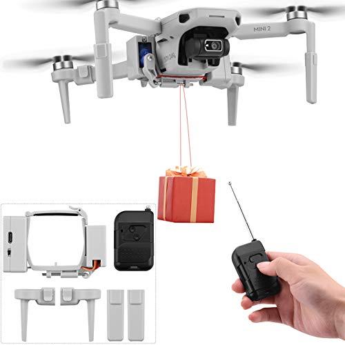 iEago RC Mini 2 dron lanzador de aire clip dron carga útil Entrega dron Transporte dispositivo de pesca para boda búsqueda y herramientas de rescate para DJI Mavic Mini / Mini 2 dron y accesorios