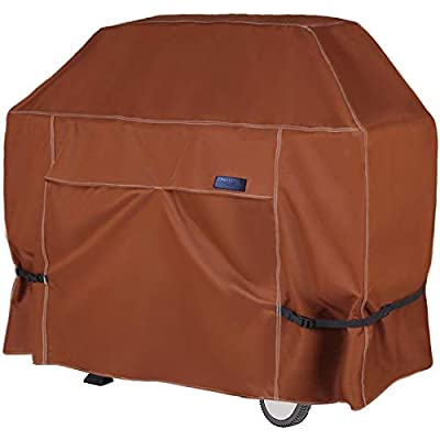 NettyPro Outdoor BBQ Grill Cover 60 Inch 3-4 Burner Waterproof Heavy Duty Patio Barbecue Cover for Weber, Char-Broil, Brinkmann, Jenn Air, Nexgrill Grills and More, Brown