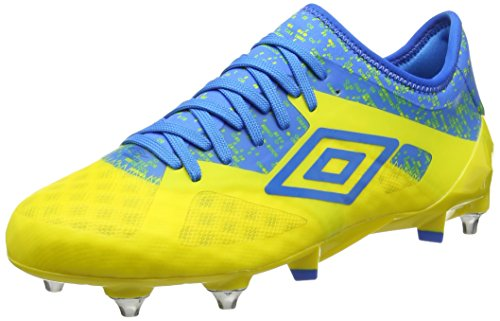 Umbro Velocita III Pro SG, Botas de fútbol Hombre, Amarillo (Blazing Yellow/Electric Blue), 40 EU