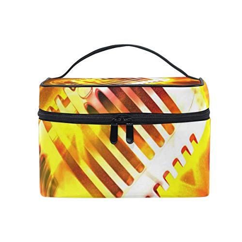 Trousse de maquillage Tracks Radio Cosmetic Bag Portable Grand Trousse de toilette pour femmes/filles Voyage