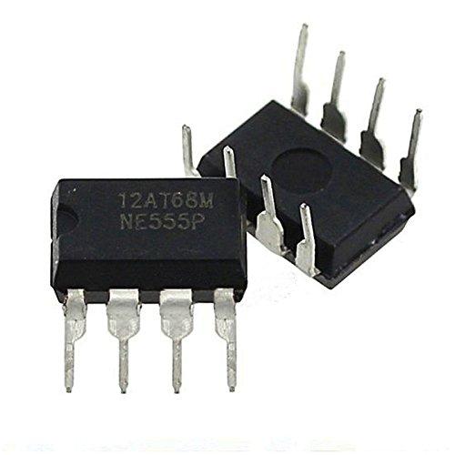Merssavo 20 Pcs Dip-8 NE555N NE555 Temporizador de Alta Precisión del Oscilador Nuevo IC Timer Chip