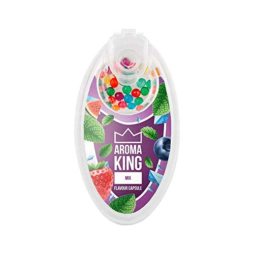 Aroma King Premium DIY Click Hülsen Kugeln Kapseln 100er Set + All u need Flaschenöffner Keyring (Fruit Mix, 1)