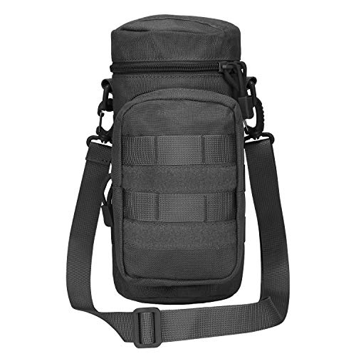 G4Free Tactical MOLLE Water Bottle Pouch Hydration Carrier Holder with Extra Accessory Pouch and Detachable Shoulder Strap