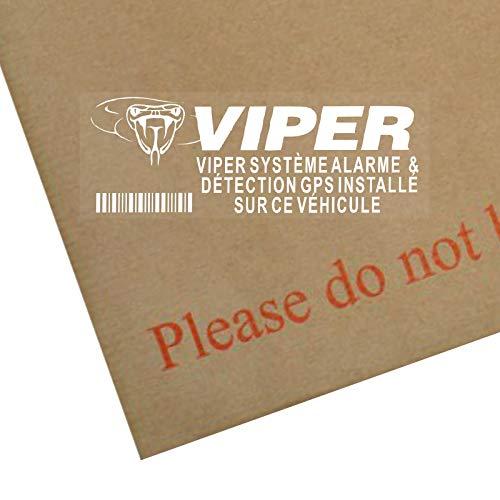 Platinum Place 5 x Viper Système Alarme & Détection GPS Installé-Autocollant-Signe